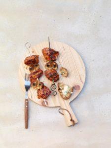 brochette poulet marinée